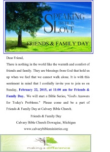 friends and family day